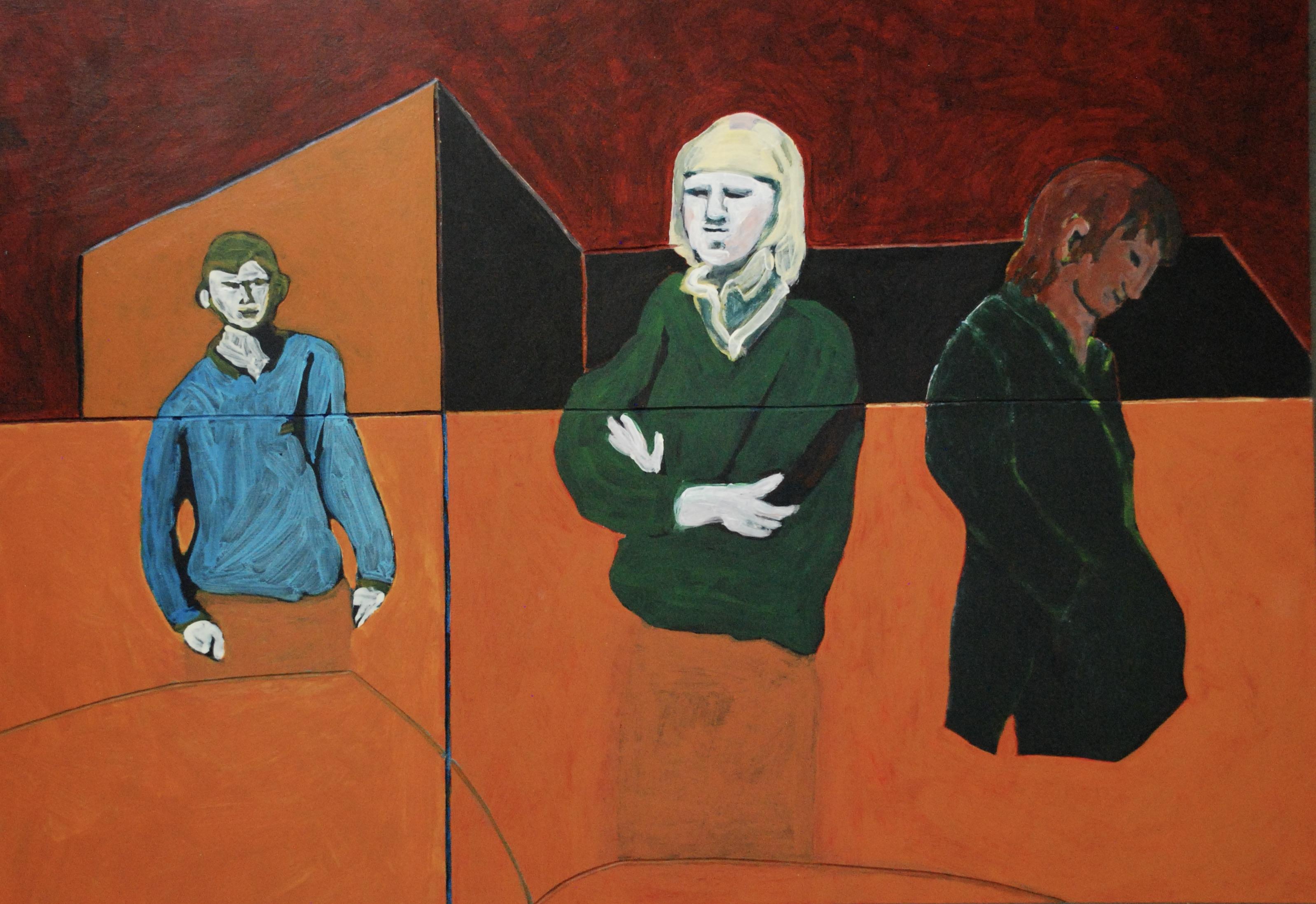 Drie figuren in De Straat